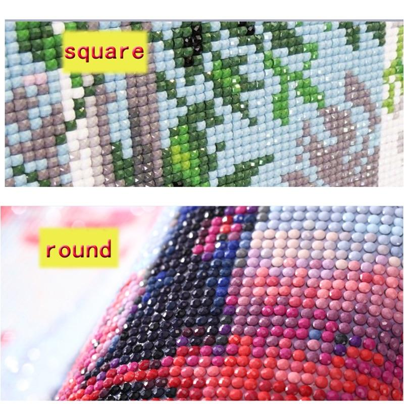 Embroidery Sale DIY 5D Cross Stitch Full Square Round Diamond Painting