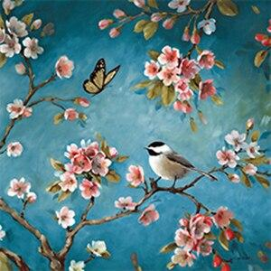 LZAIQIZG DIY Diamond Embroidery Blossom Birdie Full Square Diamond Painting Kits Pictures Rhinestones Diamond Mosaic Home Decor