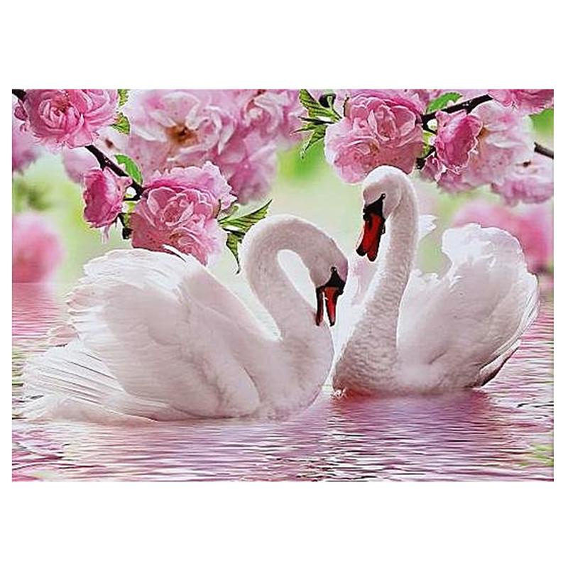 Swan DIY 5D Cross Stitch Full Square Diamond Painting