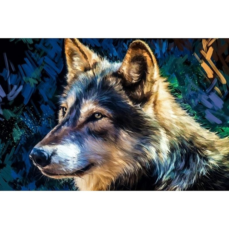 New Arrivals 5D Diamond Painting Abstract Majestic Wolf Art Full Diamond Mosaic Diamond Embroidery Cross Stitch Decorate Gift