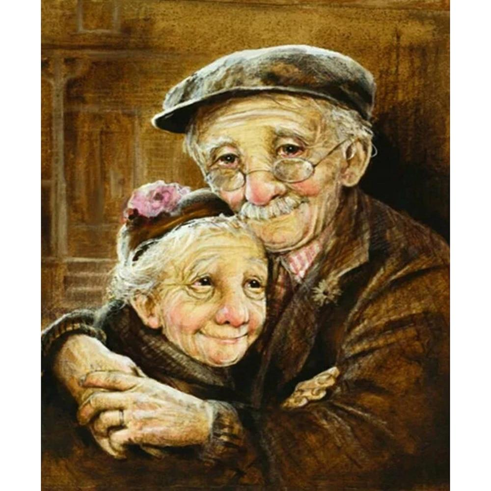 Old Lovers DIY 5D Cross Stitch Full Square Diamond Painting