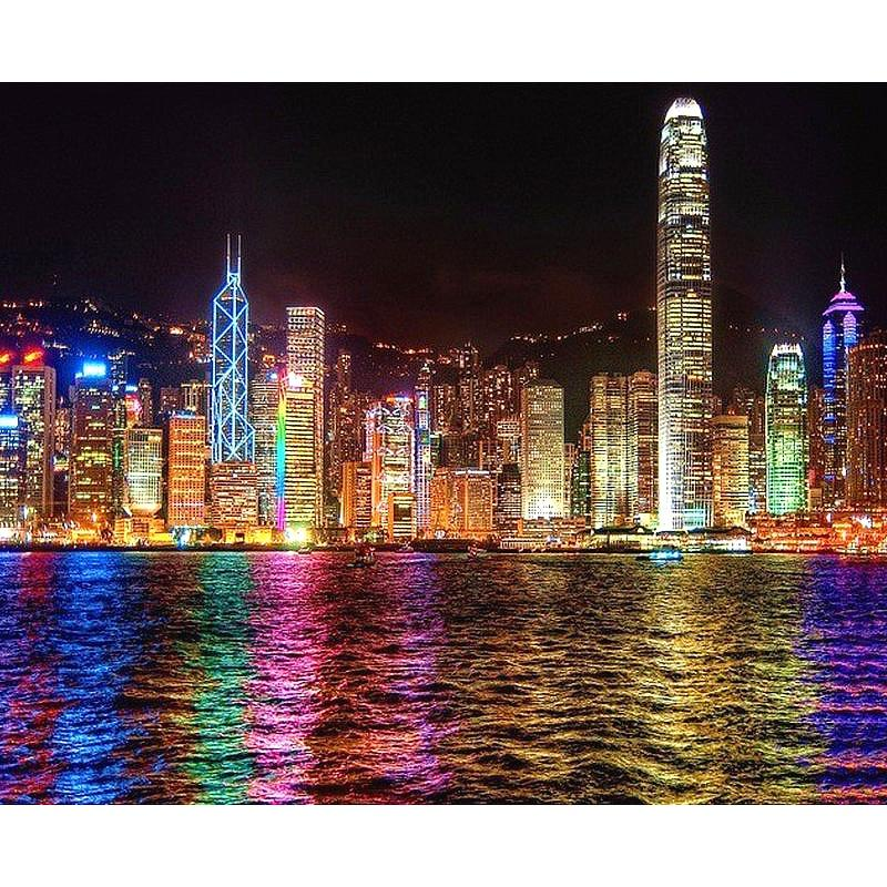 Neon Night City DIY 5D Cross Stitch Full Square Diamond Painting