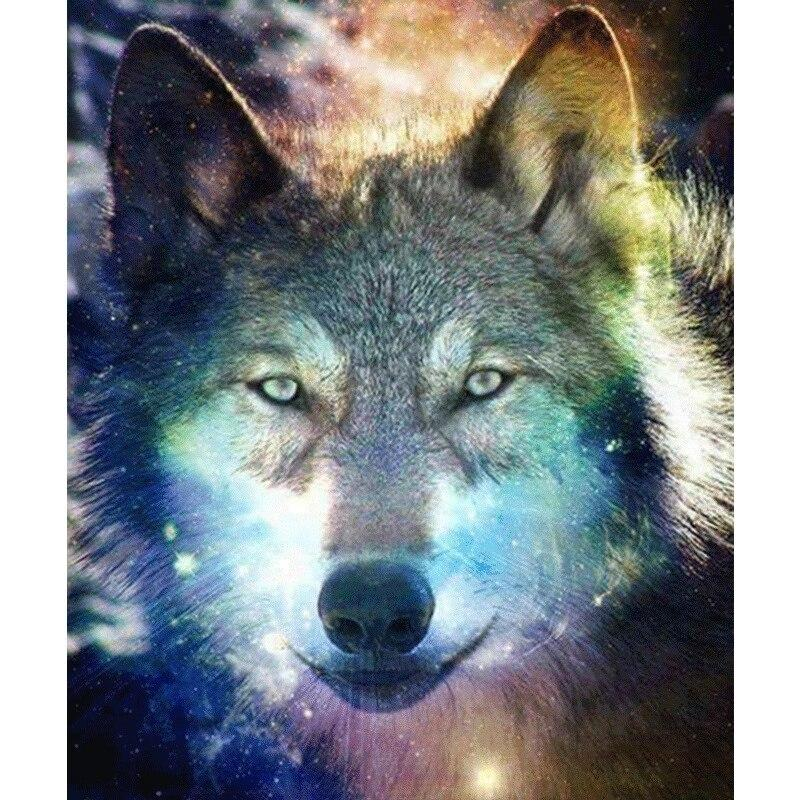 Wolf Head DIY 5D Cross Stitch Full Square Diamond Painting