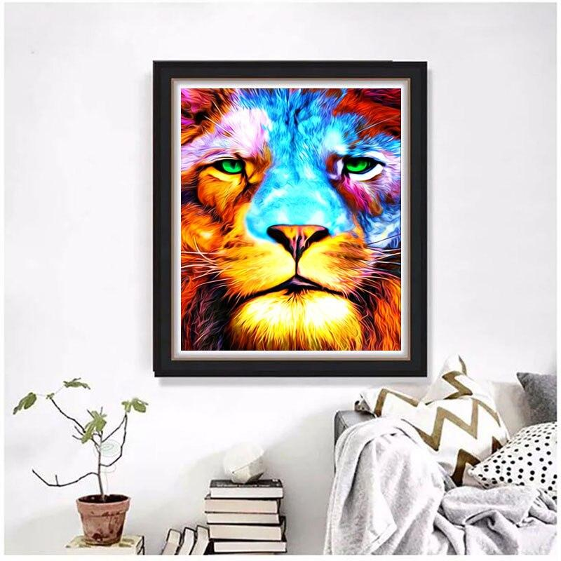 Cartoon Tiger DIY 5D Cross Stitch Full Square Round Diamond Painting