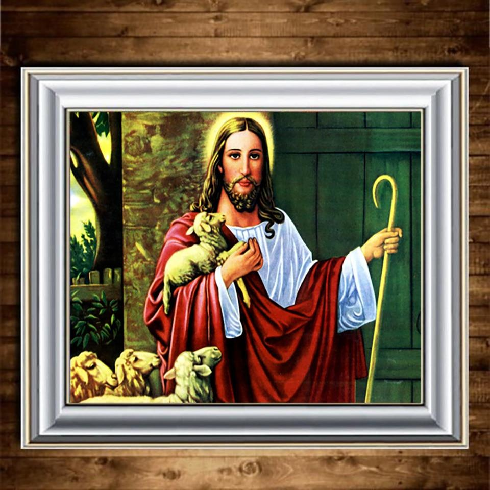 God DIY 5D Cross Stitch Full Square Round Diamond Painting