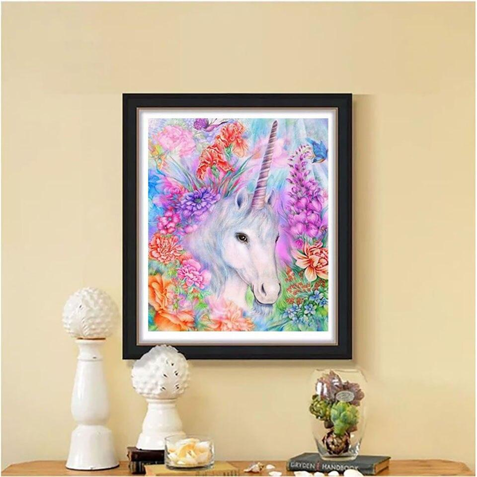 Unicorn DIY 5D Cross Stitch Full Square Round Diamond Painting