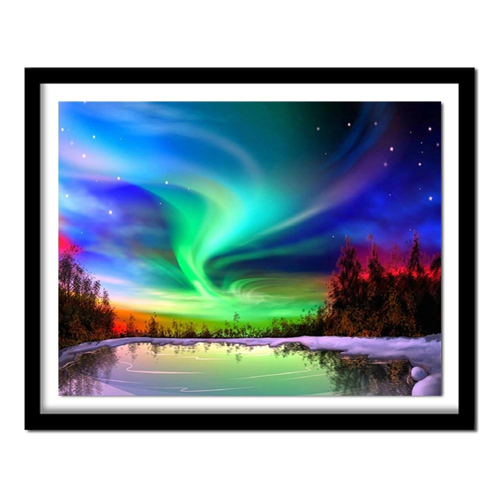 fantasy night DIY 5D Cross Stitch Full Square Round Diamond Painting