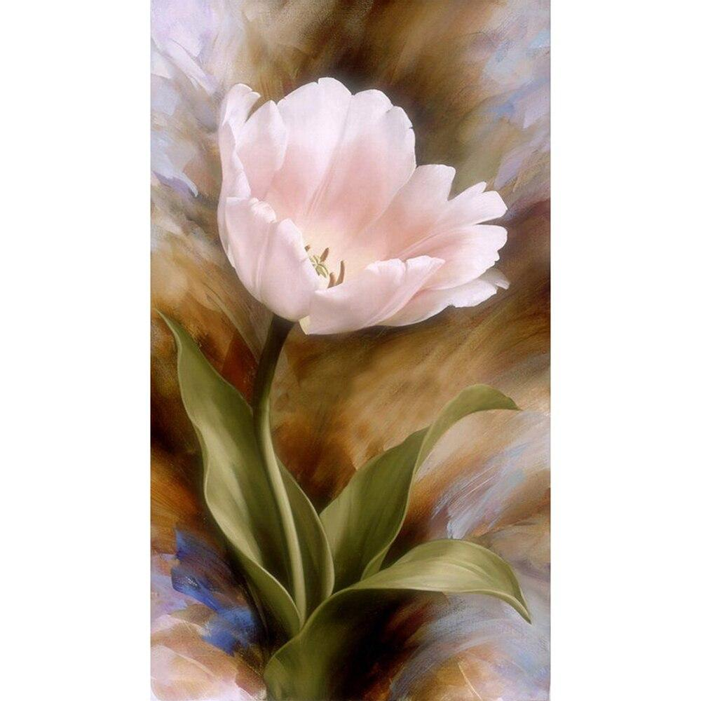 Pink tulips DIY 5D Cross Stitch Full Square Round Diamond Painting