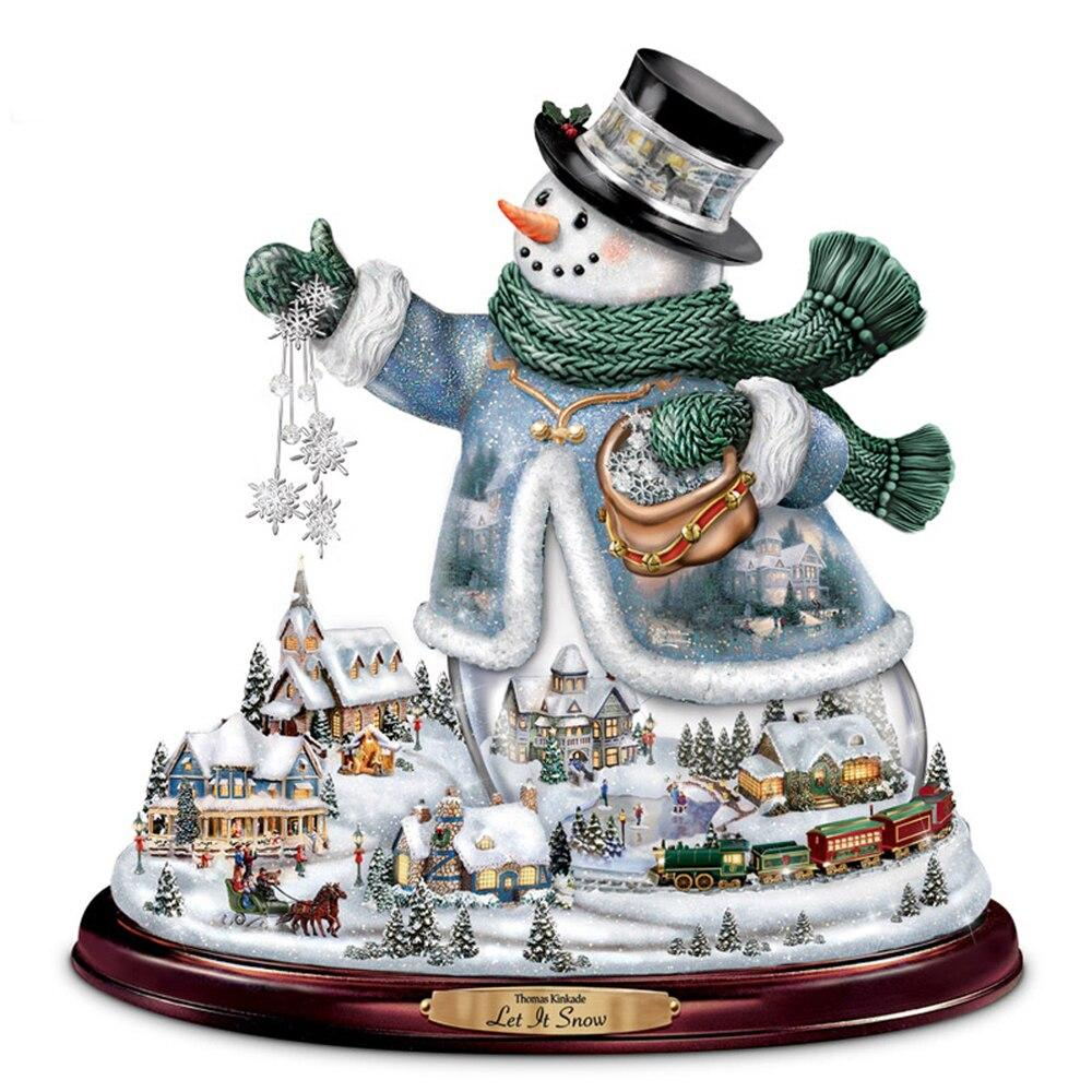 Snowman DIY 5D Cross Stitch Full Square Round Diamond Christmas Painting