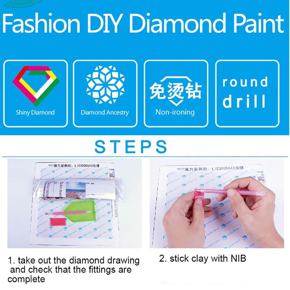 wooden bridge DIY 5D Cross Stitch Full Square Round Diamond Painting