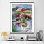 Snowman & Cars DIY 5D Cross Stitch Full Square Round Diamond Painting
