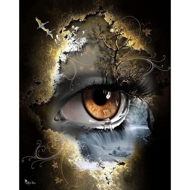 Mysterious Eye DIY 5D Cross Stitch Full Square Diamond Painting