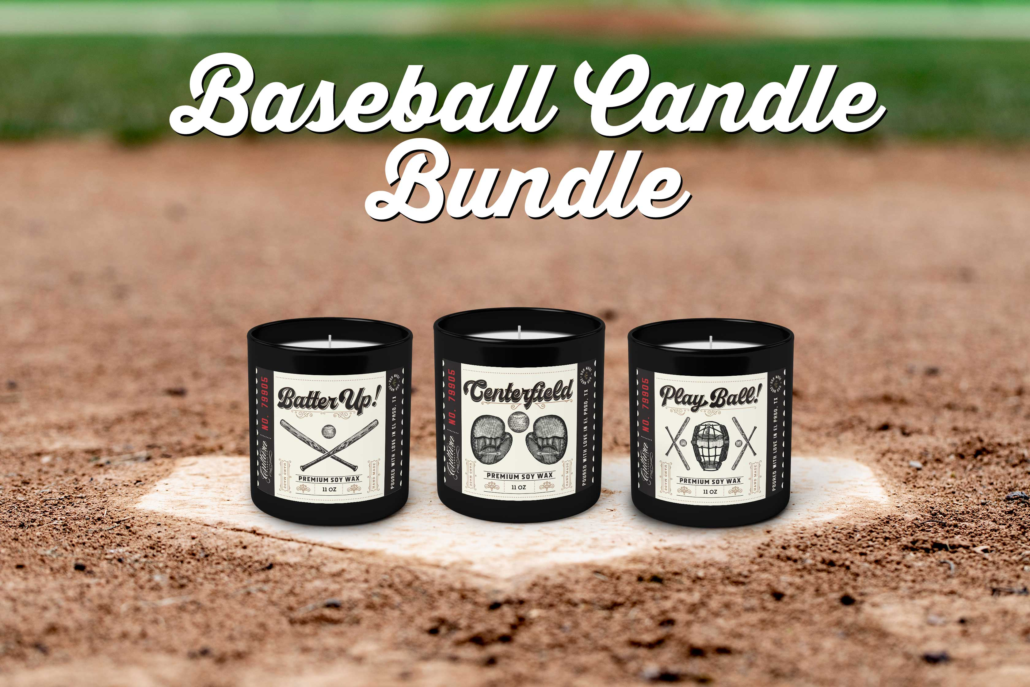 Baseball Candle Bundle