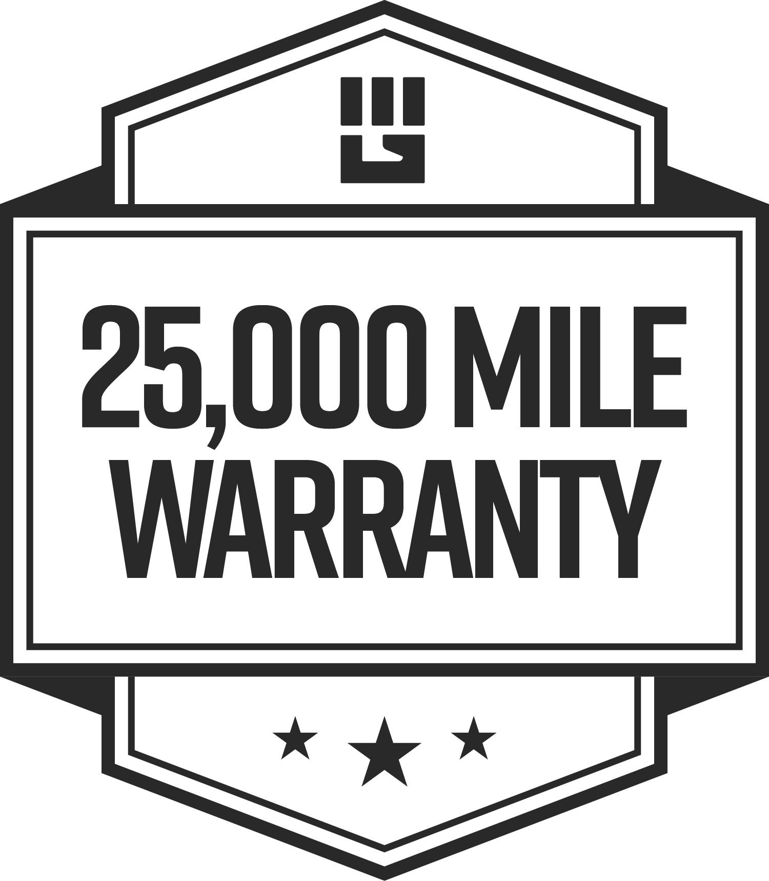 25,000 Mile MudGear Warranty Logo