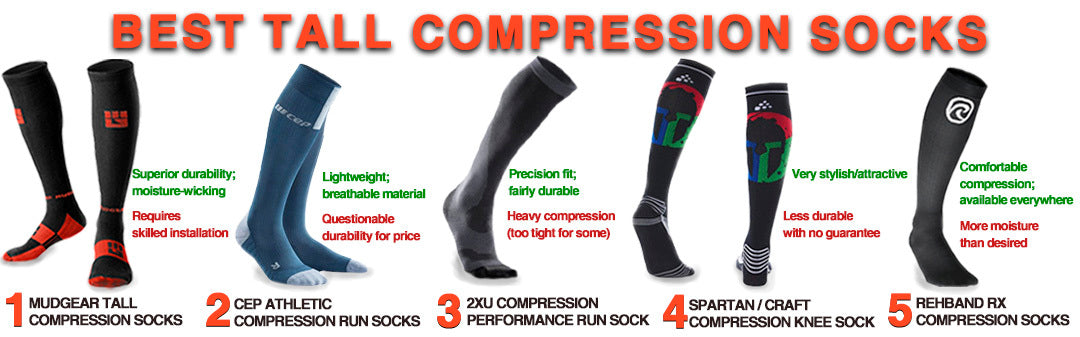 Best Tall Compression Socks for OCR | Comparison Chart