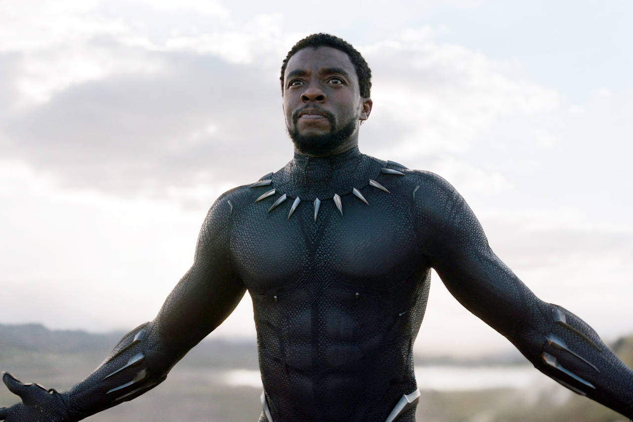 The late Chadwick Boseman as Black Panther