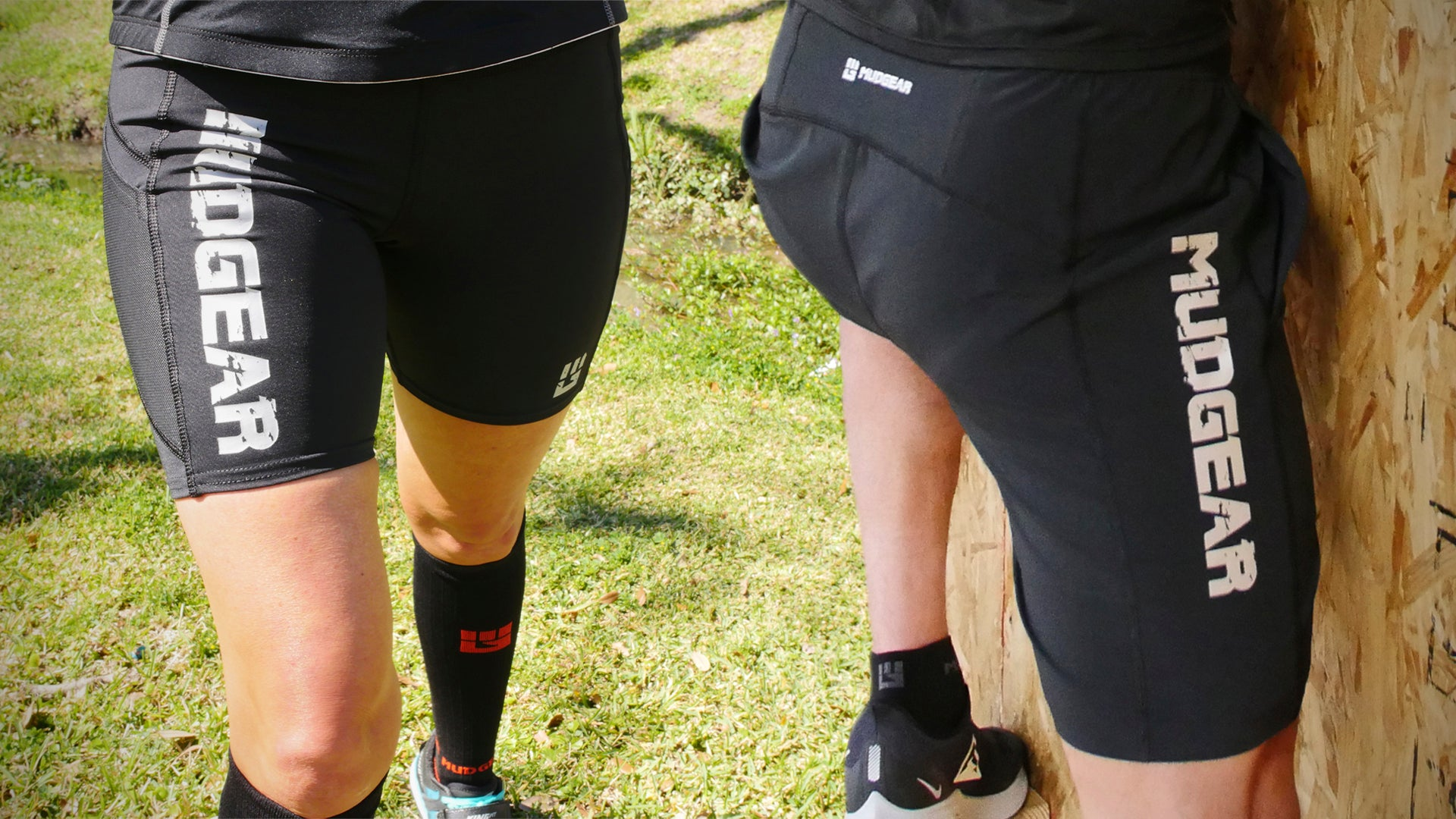 MudGear makes compression and loose fit shorts for Spartan races.