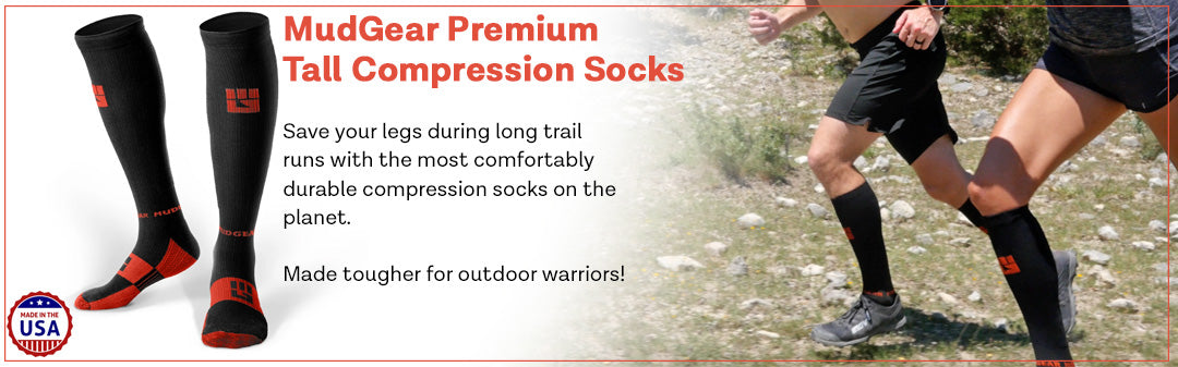 MudGear Tall Compression Trail Socks