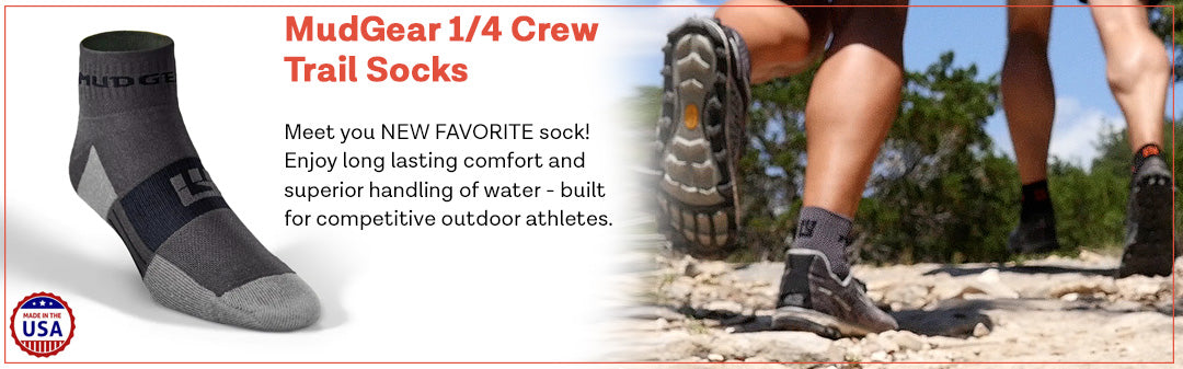 MudGear 1/4 Crew Trail Socks