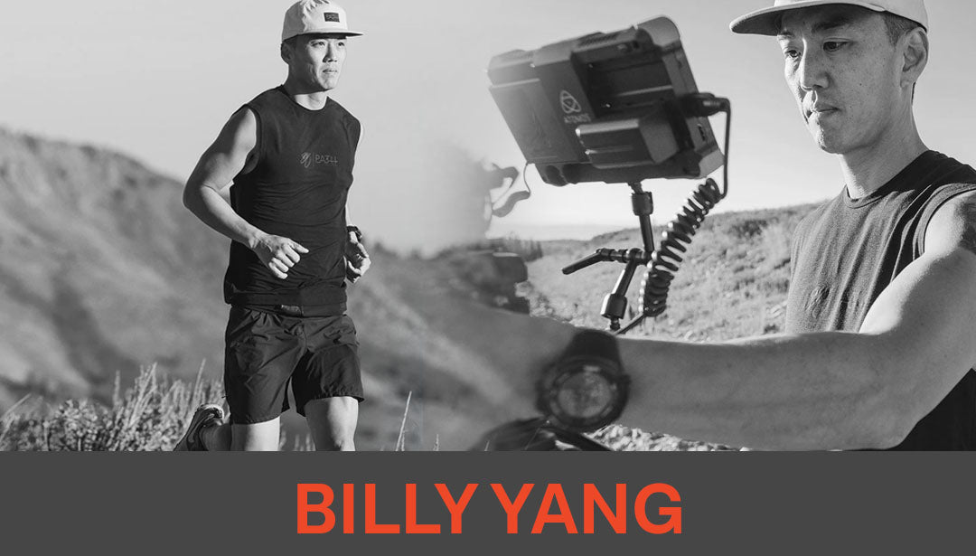 Photo collage of runner, filmographer, and influencer Billy Yang