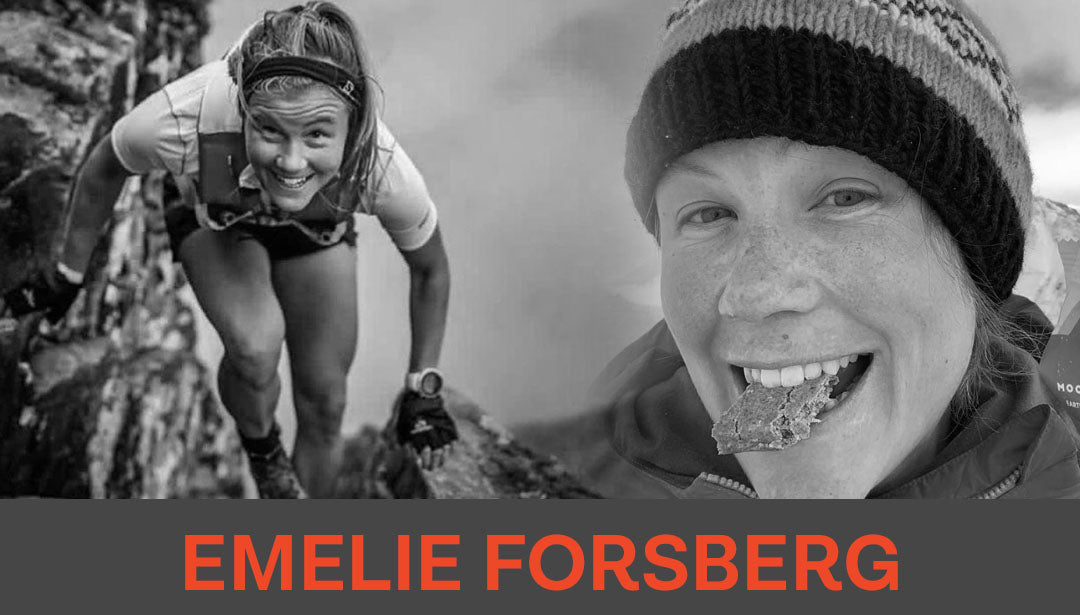 Photo collage of trail runner Emelie Forsberg