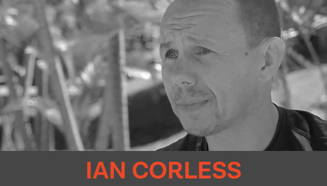Photo collage of trail photographer and influencer Ian Corless