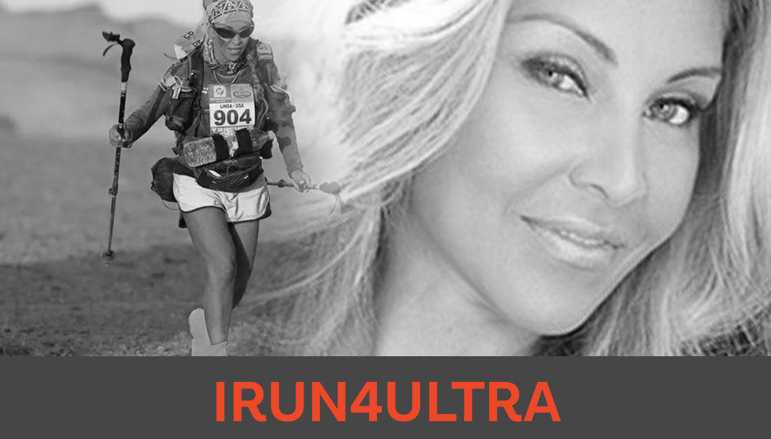 Photo collage of trail runner and influencer IRUN4ULTRA