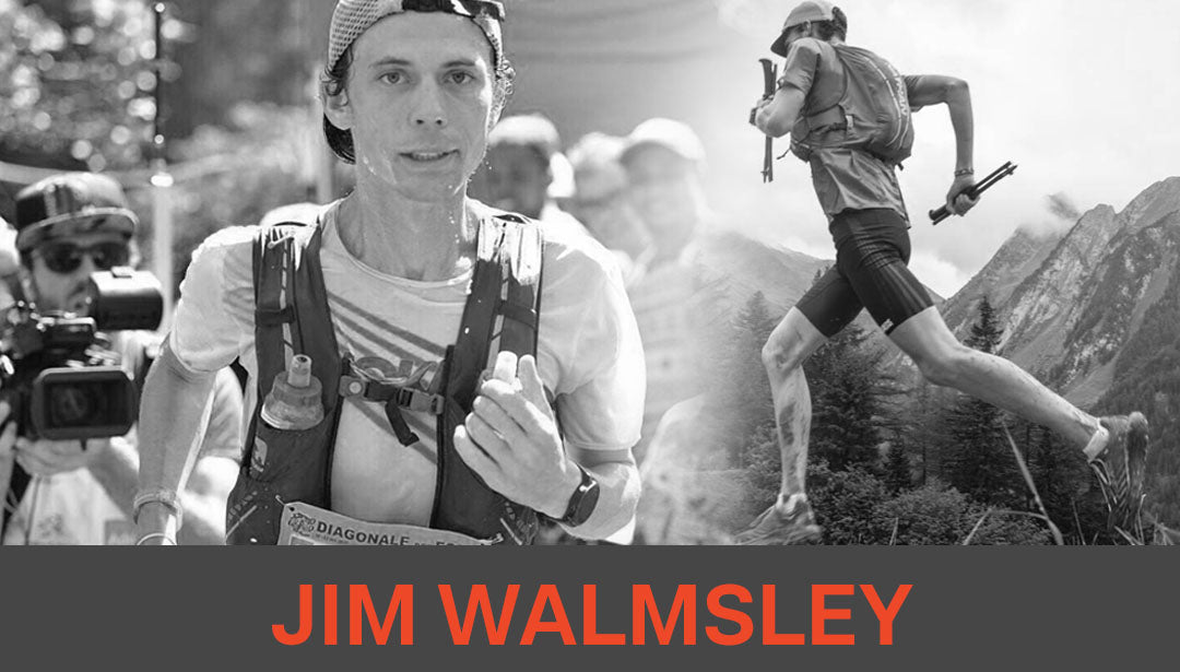 Photo collage of trail runner and influencer Jim Walmsley