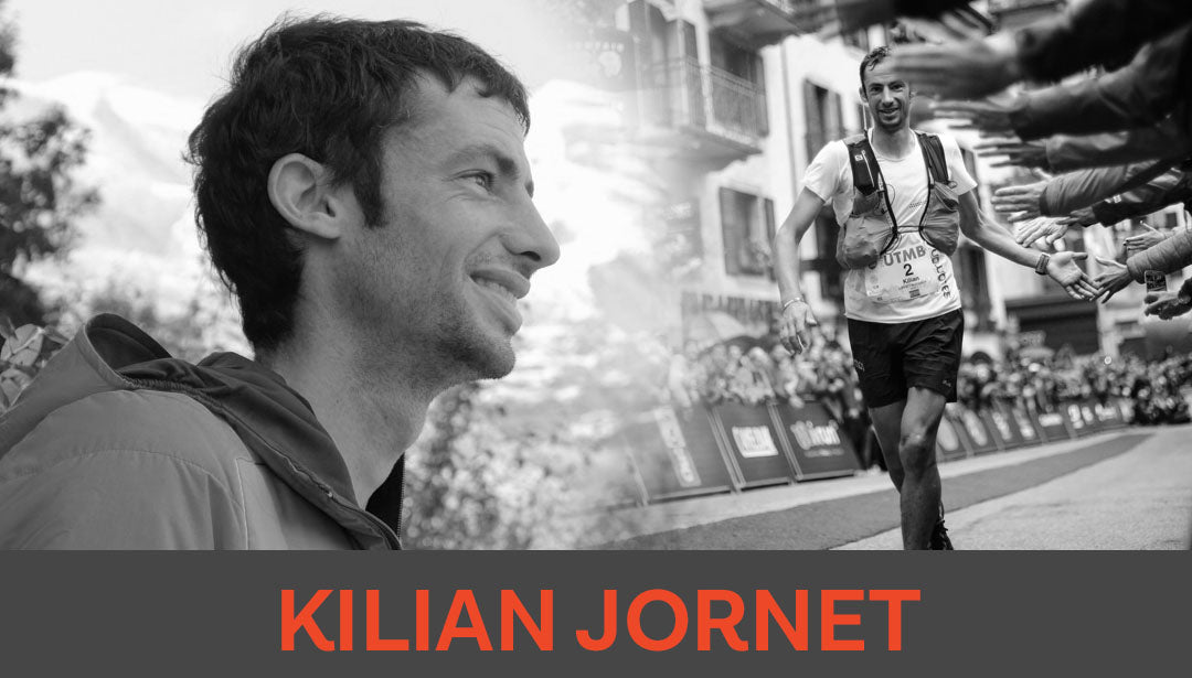 Photo collage of trail runner Kilian Jornet