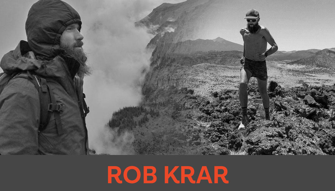 Photo collage of trail runner and influencer Rob Krar