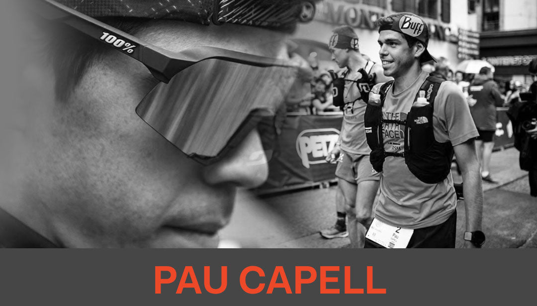 Photo collage of trail runner and influencer Pau Capell