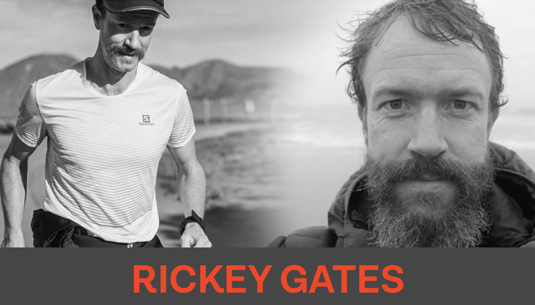 Collage of Trail Runner Rickey Gates