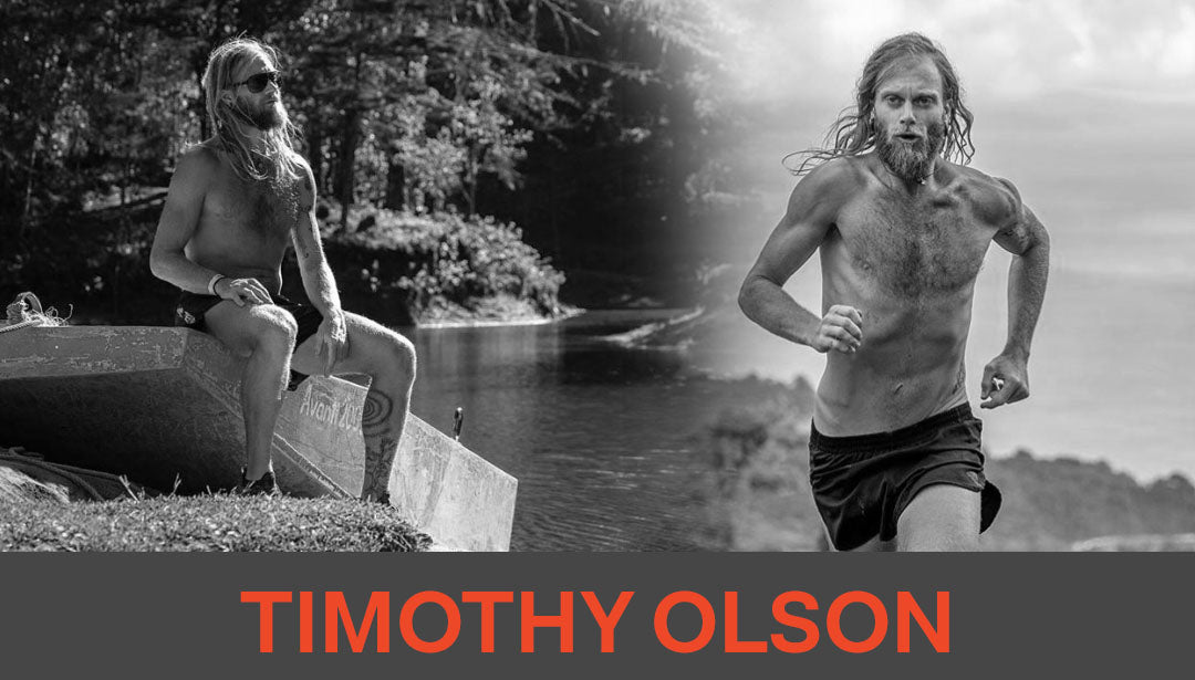 Photo collage of trail runner Timothy Olson