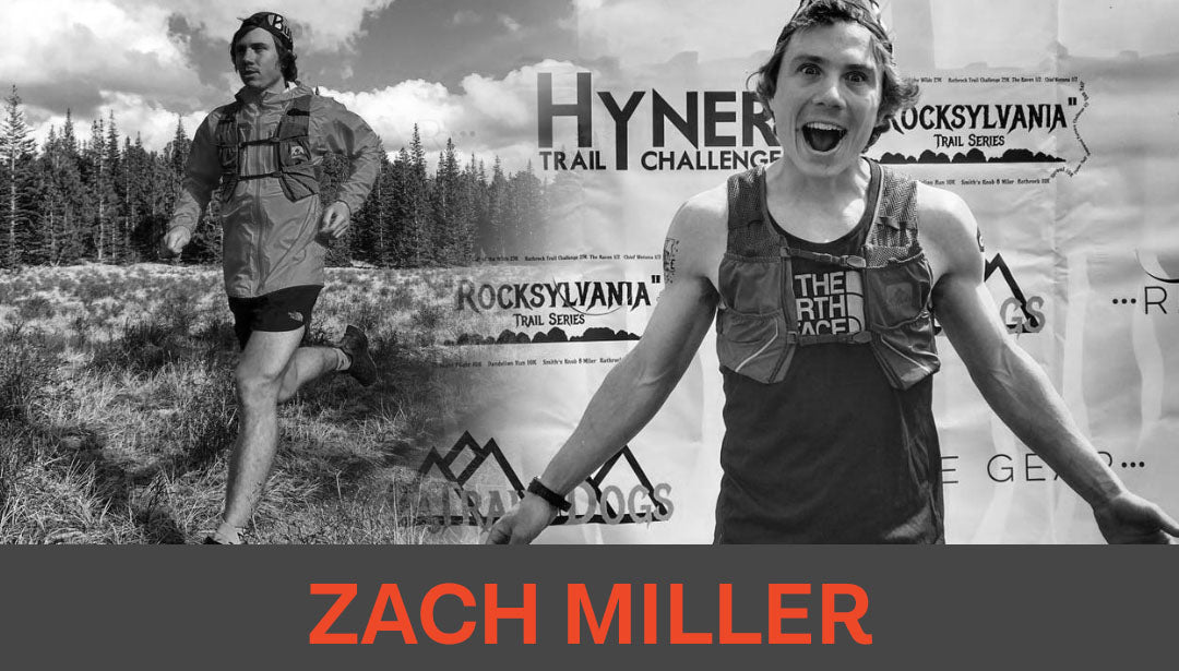Photo collage of trail runner and influencer Zach Miller