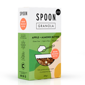 Spoon Cereals | Apple + Almond Butter Granola | Gluten Free Plant-Based | 400g