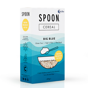 Spoon Cereals | Big Blue Granola | Gluten Free Plant-Based | 400g