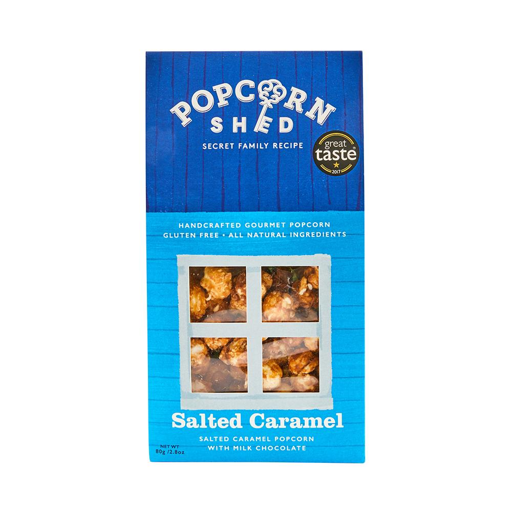 Popcorn Shed | Salted Caramel Gourmet | Salted caramel popcorn with milk chocolate | 80g Shed