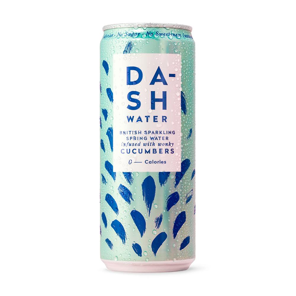 Dash Water | Sparkling Water infused with wonky Cucumber | 330ml
