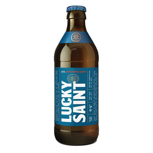 Lucky Saint | 0.5% Unfiltered Lager | Alcohol-Free Beer | 330ml