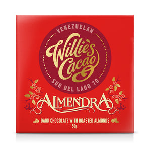 Willie's Cacao | Almendra | Dark Chocolate with Roasted Almonds | 50g