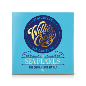 Willie's Cacao | Sea Flakes | Milk Chocolate with Sea Salt | 50g