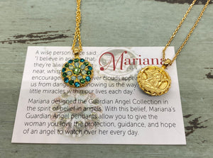 1912-YG Blue, Mint and Lime Green Mariana Necklace