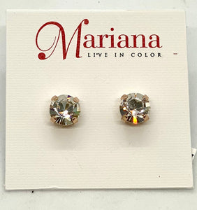 001-RG2 Clear Mariana Stud Earrings