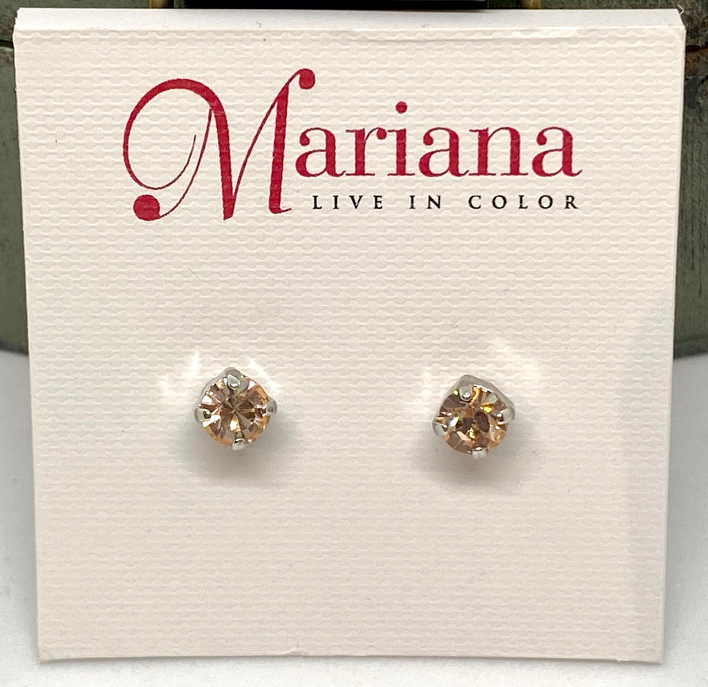 362-SP2 Peach Mariana Stud Earrings