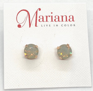 383-RG Mint Mariana Stud Earrings