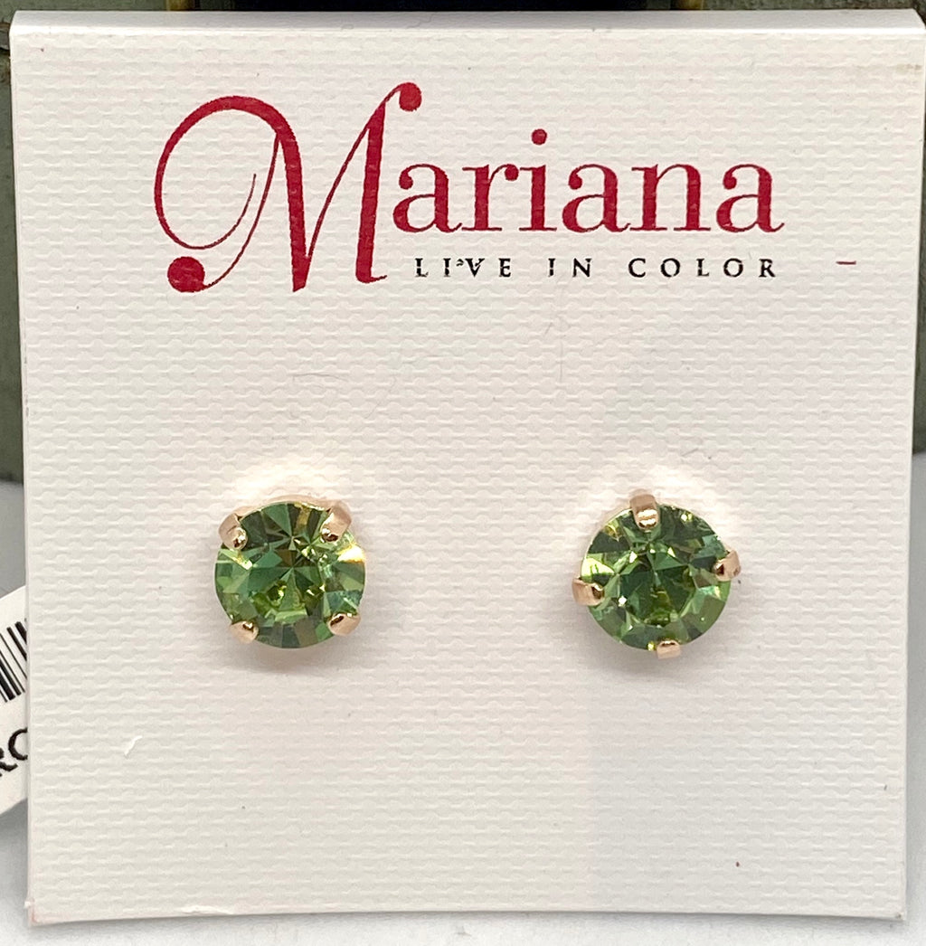 214-RG2 Lime Green Mariana Stud Earrings
