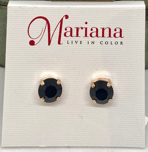 280-RG2 Black Mariana Stud Earrings