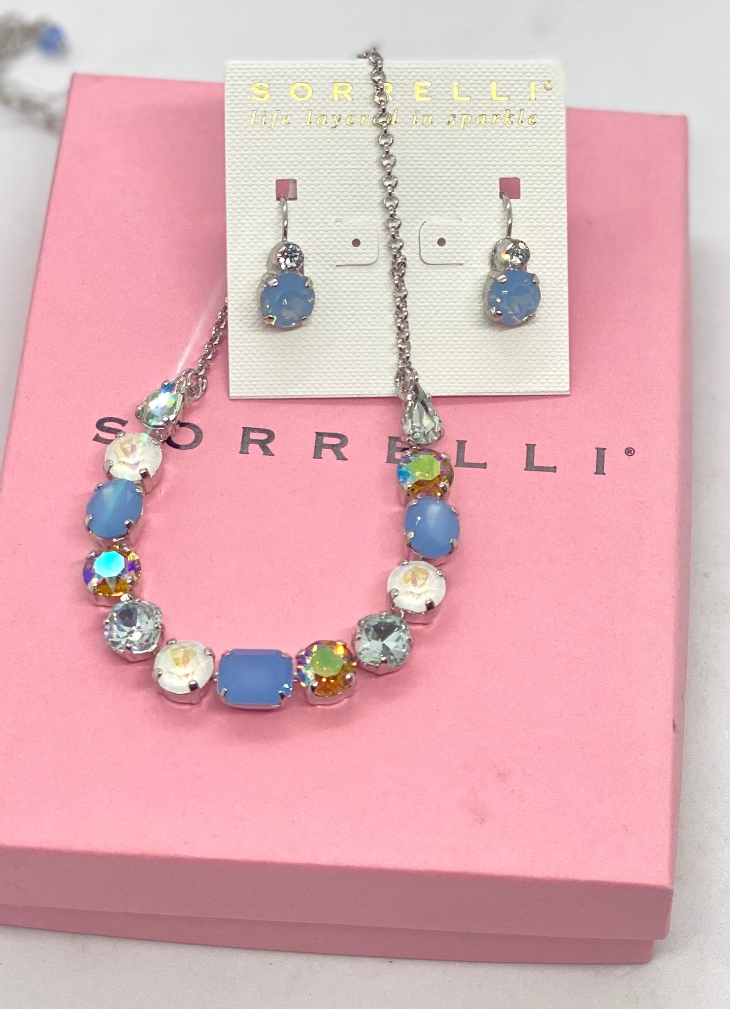 $160 NDQ14 and ECW36 Nantucket Blue Sorrelli Set