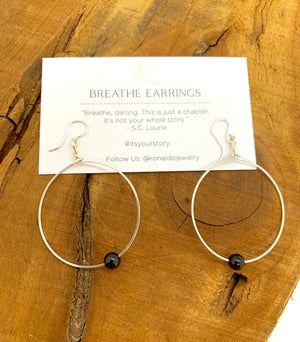 Ronaldo Breathe Earrings-Silver-Special of the Month