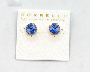 Sorrelli Studs-ECM14 Bright Gold Light Sapphire
